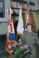 Dyrektor Beata Nowicka na spotkaniu byłych więźniów obozów koncetracyjnych, 2011