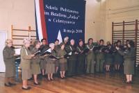 Chór AK pod Dyrekcją Beaty Nowickiej występuje w szkole podstawowej w Celestynowie na uroczystości Nadania Szkole Imienia Batalionu Zośka, 17.05.2008