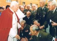 Początki Chóru AK: Chór Leśnikow pod dyrekcją porucznika mgr. inż. Wacława Fiszera na audiencji u Papieża Jana Pawła II w roku 1991
